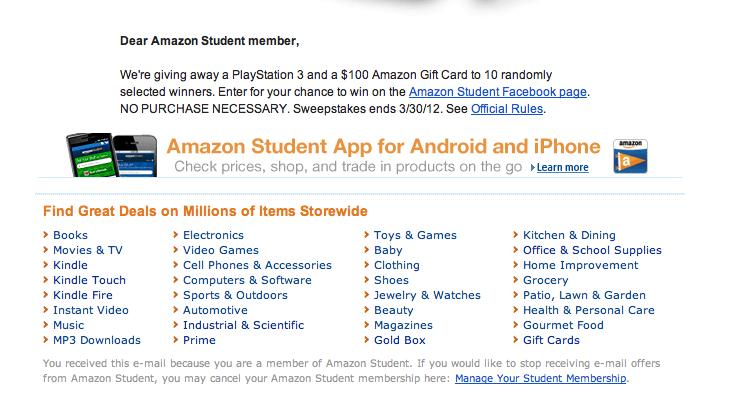 Amazon Student = Amazon Prime + Spam | Azad Zahoory
