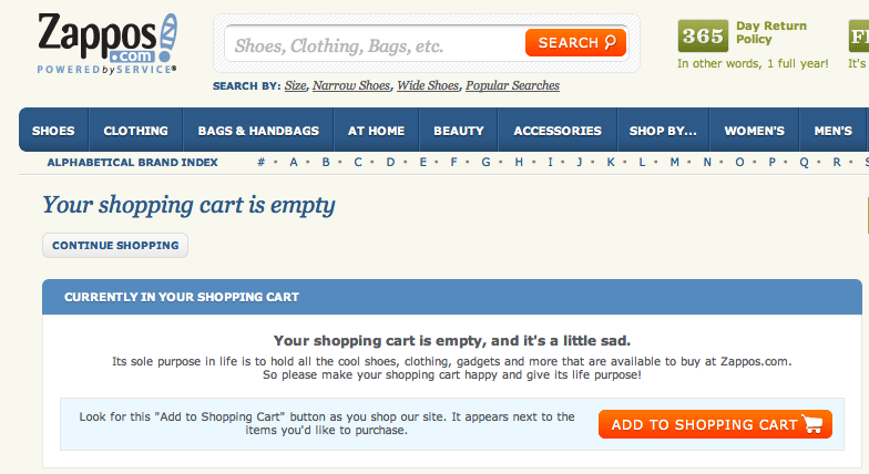 f6fe9675dff Zappos Shopping Cart Is Too Needy