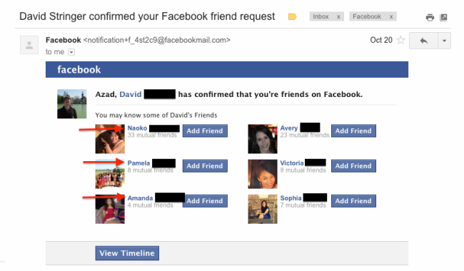 Fb dating message email